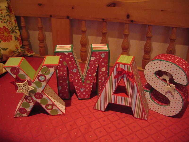 XMAS Pappmachebuchstaben 004